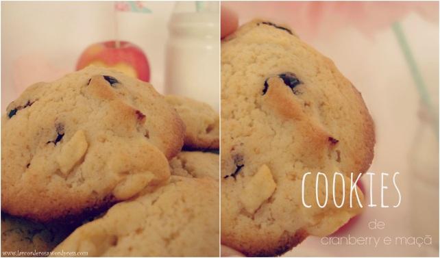 cookies de cranberry e maçã