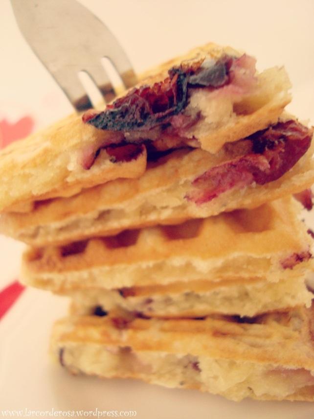 waffle com cereja