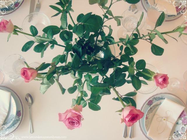 mesa de jantar romantica