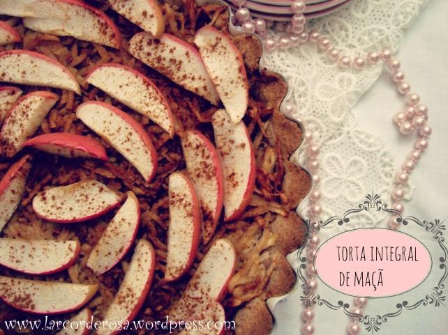 torta integral de maçã