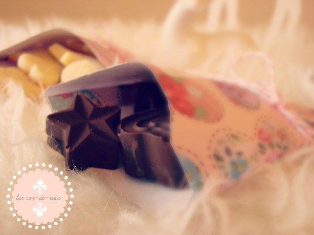 selbstgemachten schokopralinen, bomobom de chocolate caseiro