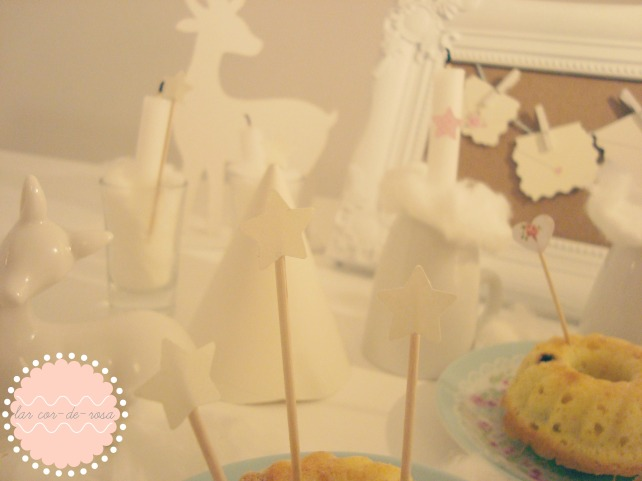 topo de bolo de estrelinha, selbsgemacht cake topper