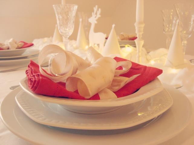 Natal branco e vermelho